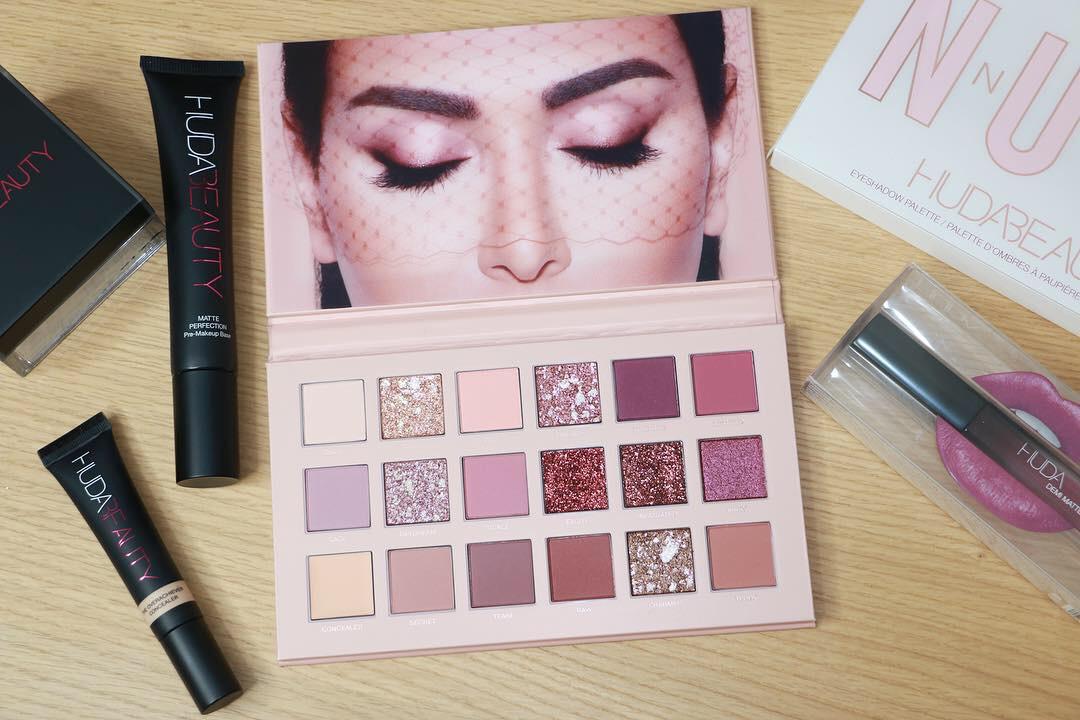Huda Beauty Make-up Products Palette Base Powder Concealer Demi Matte Liquid Lipstick
